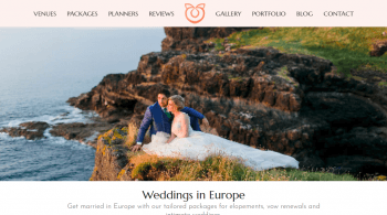 Wedding in Europe packages for destination weddings and elopements
